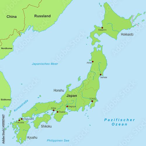 Karte Von Japan Detailliert Buy This Stock Vector And Explore