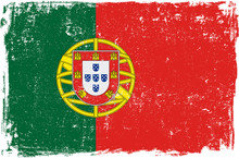 Portugal Vector Flag On White