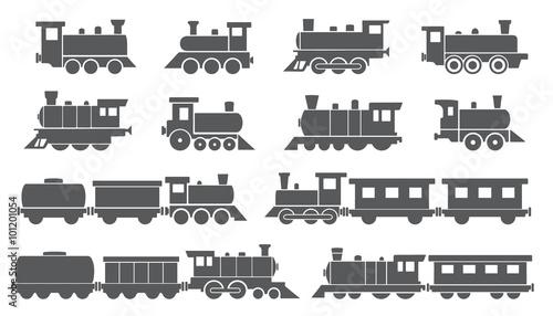 Cuadros en Lienzo  trains