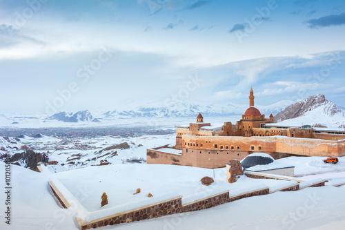 Poster Moyen-Orient Historic Ishak Pasha Palace and Landscapes