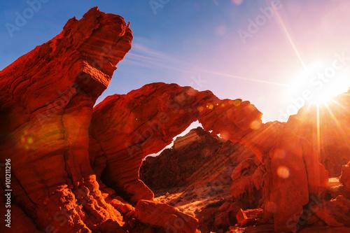 Photo sur Toile Rouge mauve Valley of Fire
