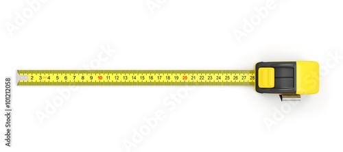 Obraz Measure Tape isolated on white background - fototapety do salonu