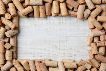 Fototapeta Wino Cork Frame