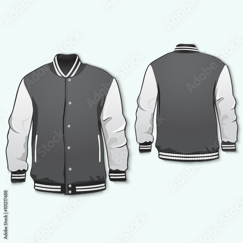 Varsity Sports Jacket Template Vector Buy This Stock Vector And