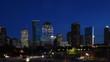 4K UltraHD Day to night timelapse of the Houston city center