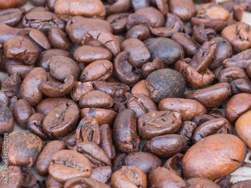 Canvas Prints Coffee beans coffee beans background