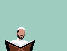 Muslim Reading Quran - Flat De...