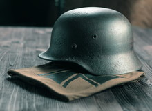 Rusty German Army Helmet From ...