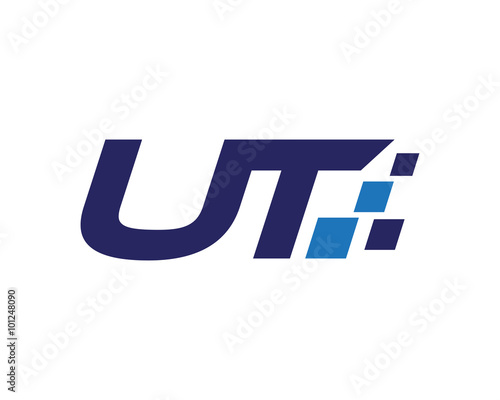 UT digital letter logo Wallpaper Mural
