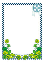 Beautiful Vertical Color Frame With Clover