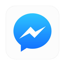 Vector Modern Chat App Icon On White