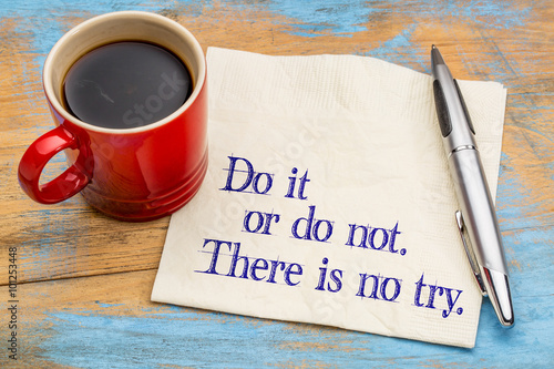 Do or do not quota on clipboard Canvas Print