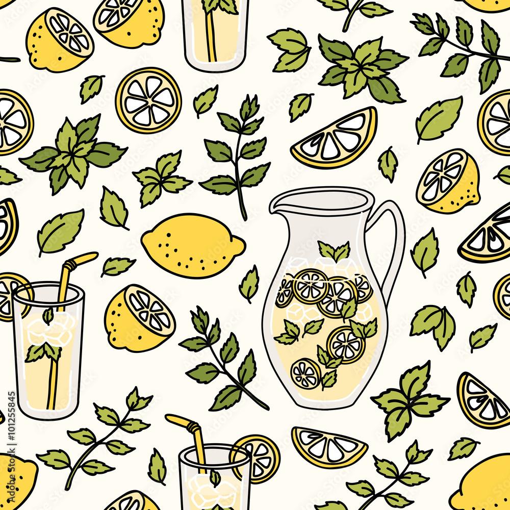 Odświeżający wzór z lemoniadą
