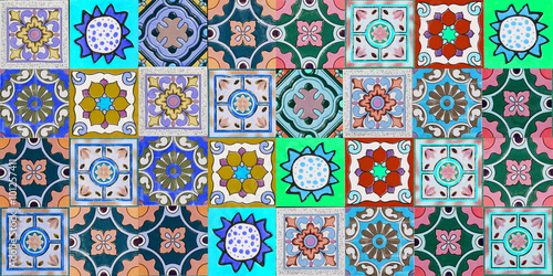 Printed kitchen splashbacks Moroccan Tiles ceramic tiles patterns from Portugal.