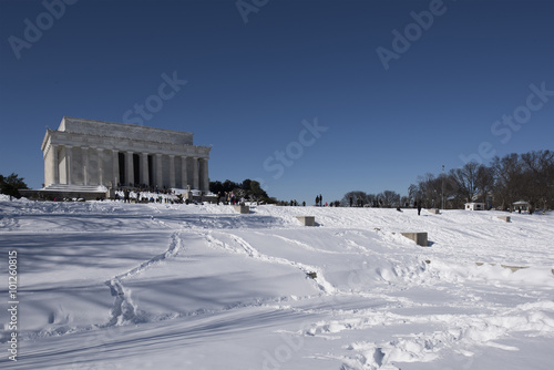 Lincoln Memorial in the winter Poster
