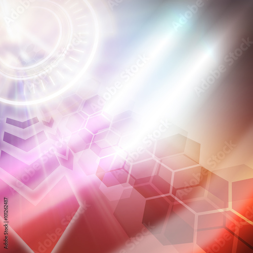 Fotobehang - abstract technology background