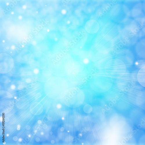 Canvas Prints Countryside blue bokeh abstract light backgrounds
