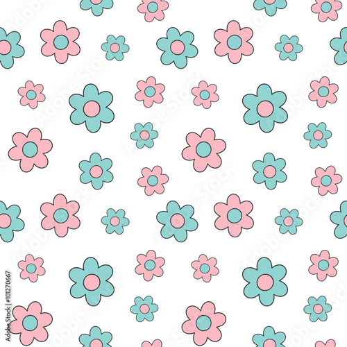 sliczny-wektorowy-wzor-w-rozowe-i-niebieskie-stokrotki