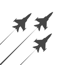 Military Plane In The Sky Icon