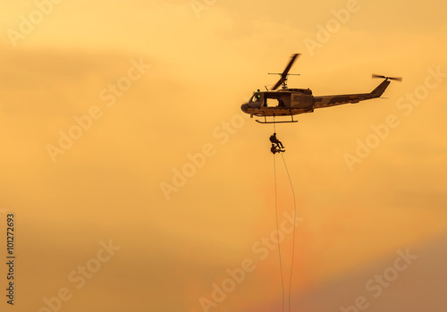 Recess Fitting Helicopter soldiers rescue helicopter military operations