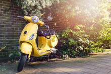 Yellow Scooter Parked