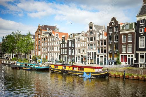 Ingelijste posters Amsterdam Amsterdam Singel street