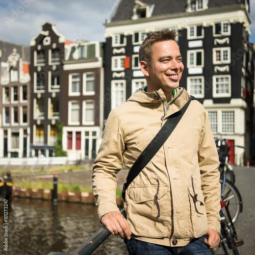 Photo  Toutist in AMsterdam