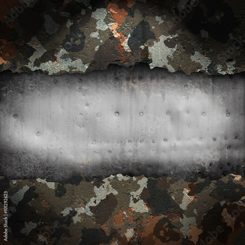 Camouflage military background - 101292623