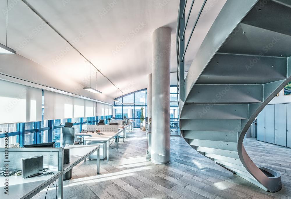 Fototapeta Interior of a company modern office