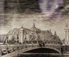 Vintage View Of Paris Street