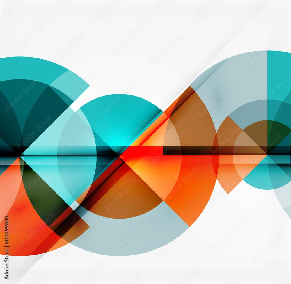 Fototapeta Geometric design abstract background - circles