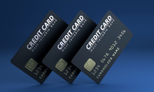 Credit Card On Blue Background