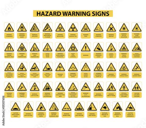 Photo  señales de peligro