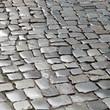 pattern of wet cobble stones