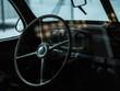 Blick in Innenraum eines alten Autos