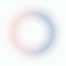 Polka Dot Circle #Serenity And Rose Quartz