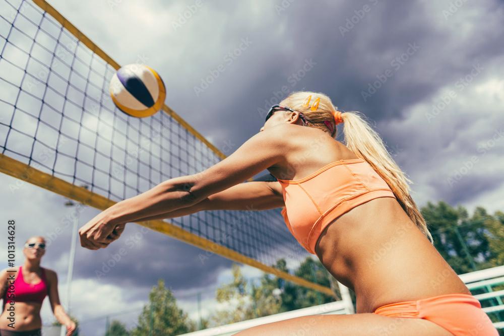 Plage détail de volley-ball Poster