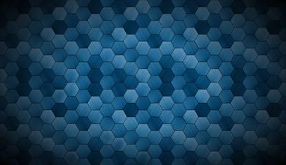 Fototapeta Do restauracji Extra Dark Cyanotype Tiled Background with Spotlight