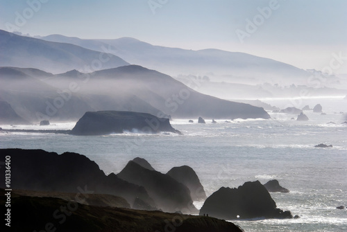 Ingelijste posters Kust Seascape of the Sonoma Coast