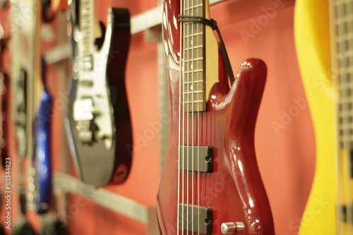 Foto op Canvas Muziekwinkel Electric guitars
