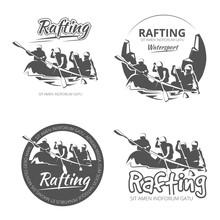 Vintage Rafting, Canoe And Kay...