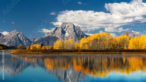 Deurstickers Honing Grand Teton National Park in autumn
