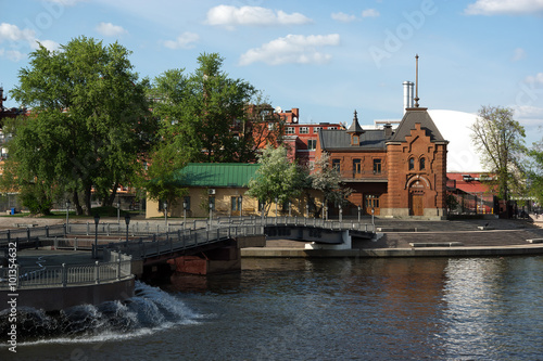 Imperial Moscow River Yacht Club. Wallpaper Mural