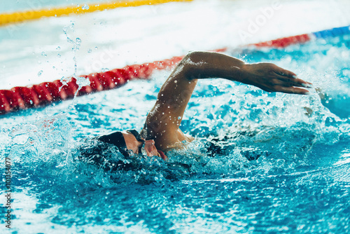 Photo  Freestyle swimming sprint