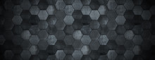 Dark Tiled Background With Spo...