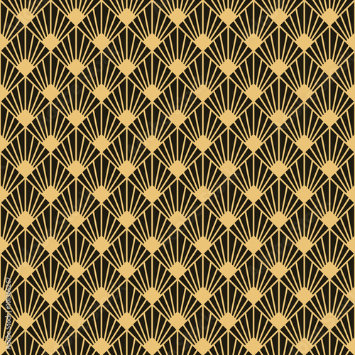 Photo  Art Deco style seamless pattern texture