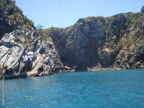 Fotografie, Obraz  Montanha rochosas,  água e céu.