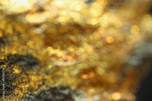Fotografia, Obraz  Background with shiny yellow gold ore