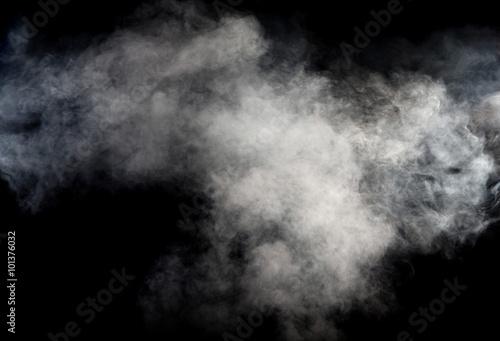 Fumee White smoke on black background