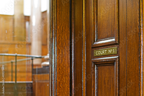 Fotografie, Obraz  Crown Court Room dating from 1854